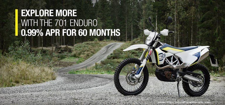 Husqvarna Motorcycles The Endless Path - 701 Enduro Retail Finance Program